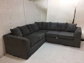 LIVERPOOL JUMBO CORD CORNER SOFA---- AMAZING OFFER !