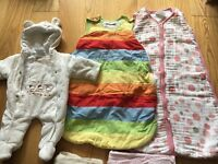0-3 months baby girl clothes, blankets, and sheets.