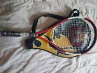 Wilson us open tennis racket and case