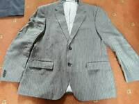 Grey Pinstriped Suit Jacket