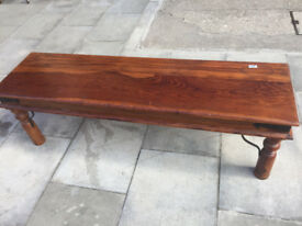 Hardwood Coffee Table , feel free to view size L 57 in D 16 in H 18 in free local delivery..