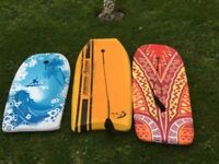 Body Boards x 3 good condition Water / Pool / Sea / Holidays