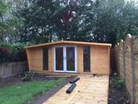 20x10 log cabin pvc doors