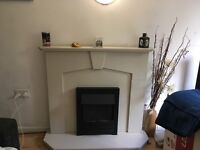 Fire surround and fire. Fire does not work £70 or nearest offer. Buyer collects