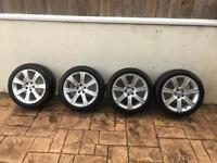 JAGUAR XF 18INCH ALLOY WHEELS AND TYRES