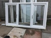 2 white pvc windows