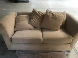 Neutral colour sprung sofa bed - as new!!! offers? Need gone ASAP