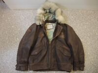 VINTAGE LEATHER JACKET IDEAL MOTORBIKE OPEN TOP CONVERTIBLE CAR CASUAL WINTER WORK COLLECTABLE