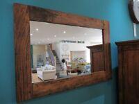 Stunning Ancient Mariner East Indies mirror. Solid Mango Wood. H 98cm x W 60cm x D 32cm