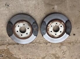 Nissan Navara new front discs and pads