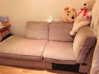 Good conditioned three seats sofa, comfortable and lovely.