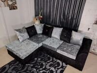 **SPECIAL OFFER** BRAND NEW JULIE CRUSH VELVET CORNER OR (3+2) SOFA **EXPRESS DELIVERY**