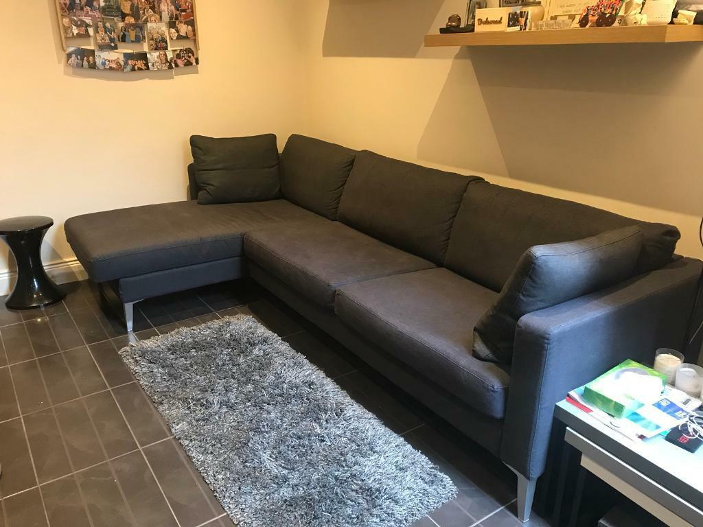 Super Ikea Karlstad Sofa With Footstool In Ravenhill Belfast Gumtree Cjindustries Chair Design For Home Cjindustriesco