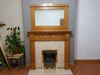 Fire mantel surround and mirror