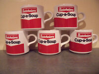 5 vintage (1980s) Batchelors Cup-a-Soup mugs. £10 ovno lot or £2.50 each. Excellent condition