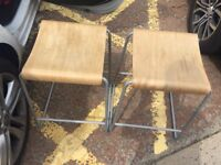 2 square stools £5 each or 2 for £8 also two tall stools same price