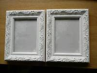 White picture frames x 2
