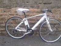 "New Claud Butler Sabina R2 Silver Road Bike Custom Hybrid Triathlon Cyclo 17"" - RRP £379"