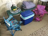 Camping- Two Tents and Accessories
