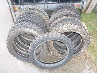 19 inch mx tyres job lot of 13