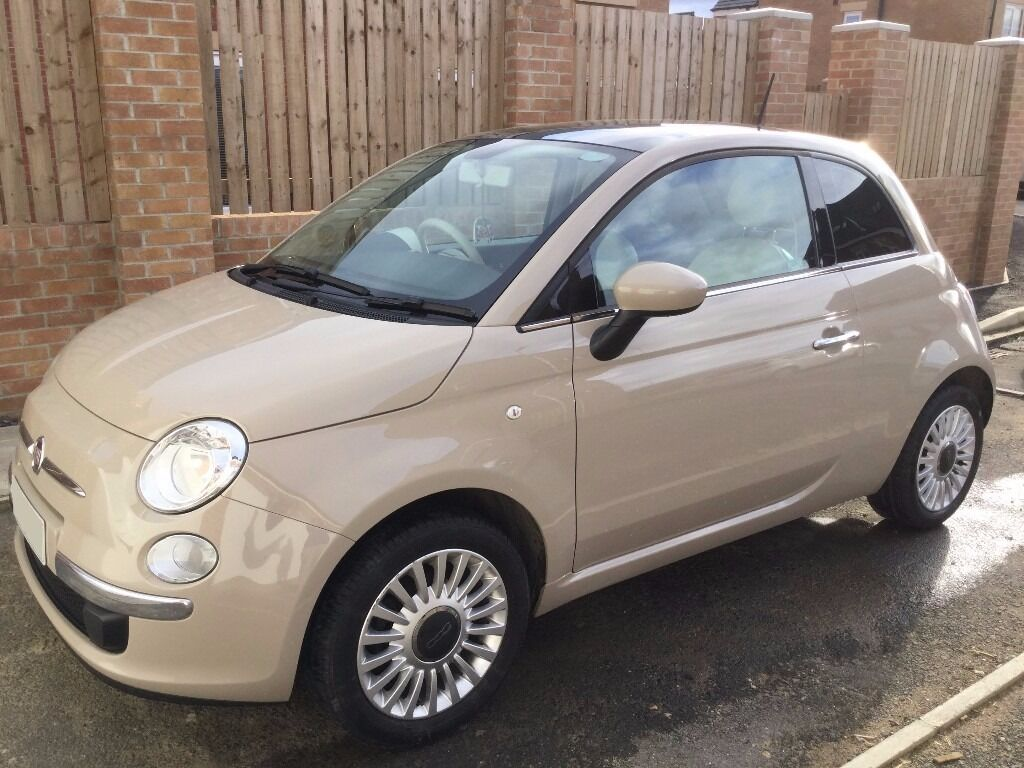 2014 fiat 500 1 2 lounge beige in chester le street county durham gumtree. Black Bedroom Furniture Sets. Home Design Ideas