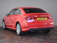 AUDI A3 2.0 TDI S Line [Tech Pack, Heated Seats] 4dr (red) 2014