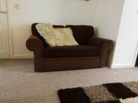 3 seater sofa. Removable cover. Chocolate in colour