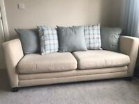 Fabric sofas x 2