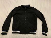 Mens black zip front jacket - size medium, brand new, never been worn