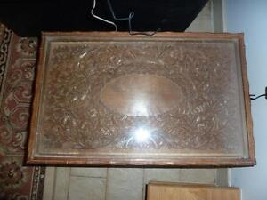 Antique Hand Carved Screen, Matching Center & Side tables. West Island Greater Montréal image 4
