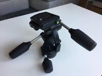 MANFROTTO 808RC4 3 way Tripod Head with Camera/Lens Plate