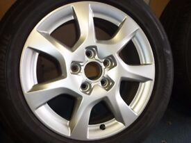 4 audi a3 8p alloys ,6.5 j x16,with tyres