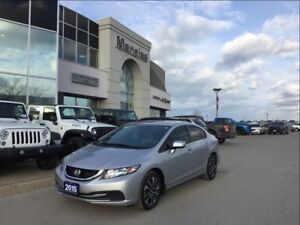2015 Honda Civic Sedan EX, Sunroof, Bluetooth, Cam's, Clean Carp