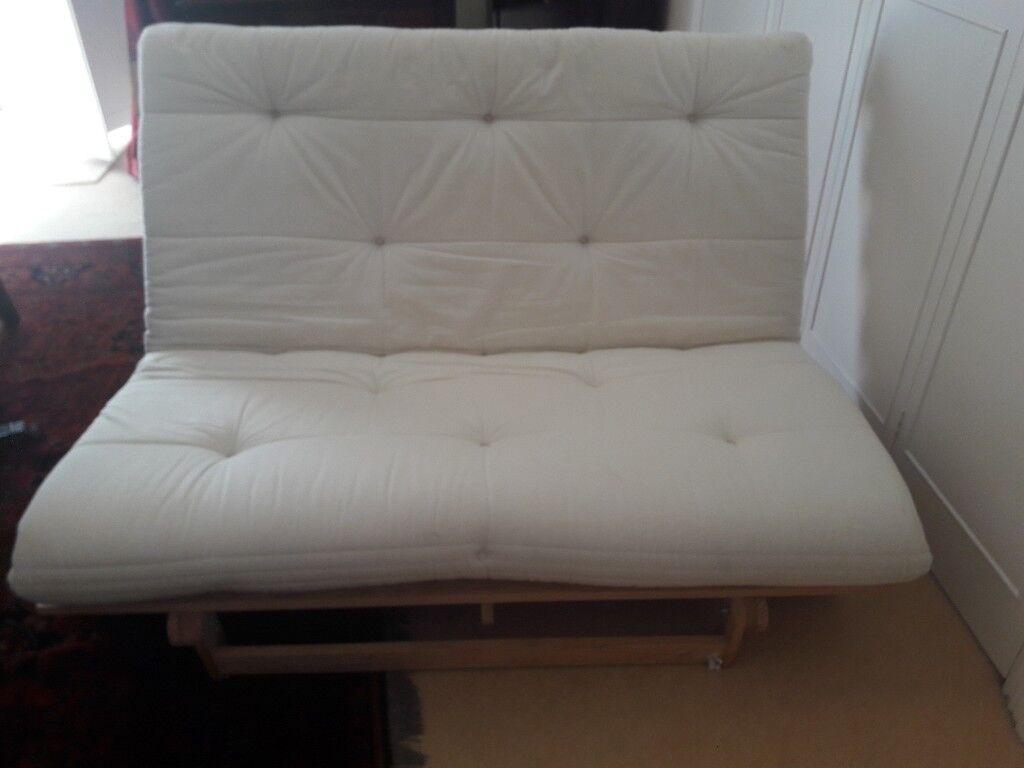 Ikea Mum Futon 2 Seater Sofa Bed Cream White In Dartmouth Devon Gumtree