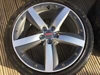 "Audi A1 sport alloys 17"" removed from Mk4 Golf 5 x 100"