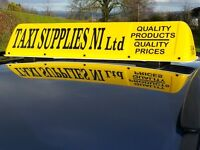 New Regulation Taxi Roof Signs/ DOE Approved/ Traditional Style/ LED lighting/ NO VAT