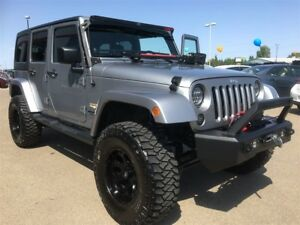 2014 Jeep Wrangler UNLIMITED SAHARA,  $15,000.00 IN UPGRADES
