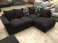 New black corner sofa
