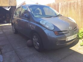 NISSAN MICRA SVE 5dr 2005 UNRECORDED SPARES OR REPAIRS - Service History, 2 keys