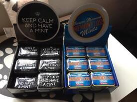 Joblot novelty tins of mints