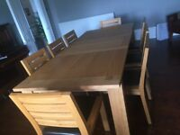 Marks & Spencer Sonoma Extending Dining Table & 8 Chairs
