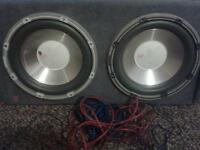 "fli 2x 12"" subwoofers + amp built in double box speakers sub sony cd player vibe xplod mutant"