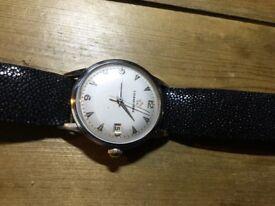 Eterna matic auto watch with new stingray strap.