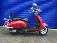 2015 LINGBEN RETRO 50CC SCOOTER , SAME AS LEXMOTO VALENCIA , 12 MONTHS MOT , LOW MILES