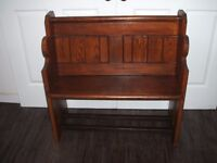 Victorian Pitch Pine Small Church Pew (1862)