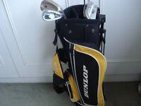 Junior Golf Set, dunlop bag and irons