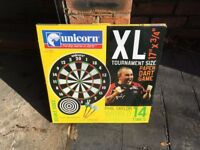 Dart Board and 2 sets of darts - brand new