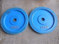 2 x 20kg of Olympic Weight plates