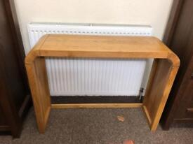 Solid oak console table * free furniture delivery *