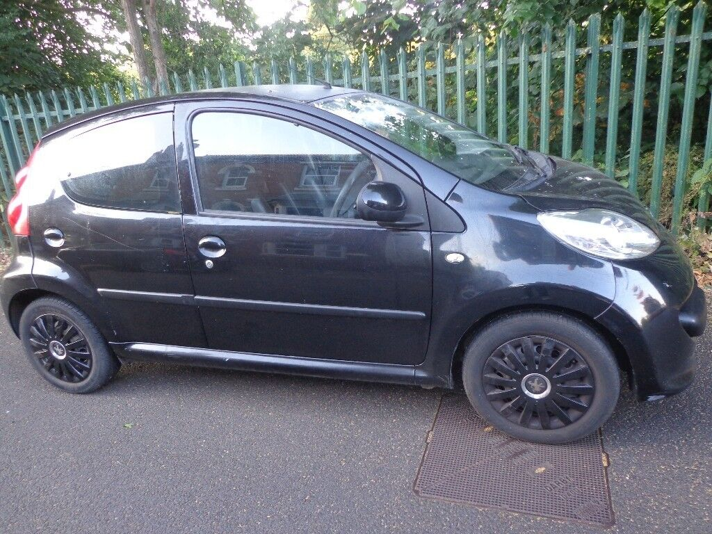 2007 Black Peugeot 107 10 5 Door Mot June 2019 Tax Only 20 Year Fuse Box On Half Leather Driveaway Or Delivery